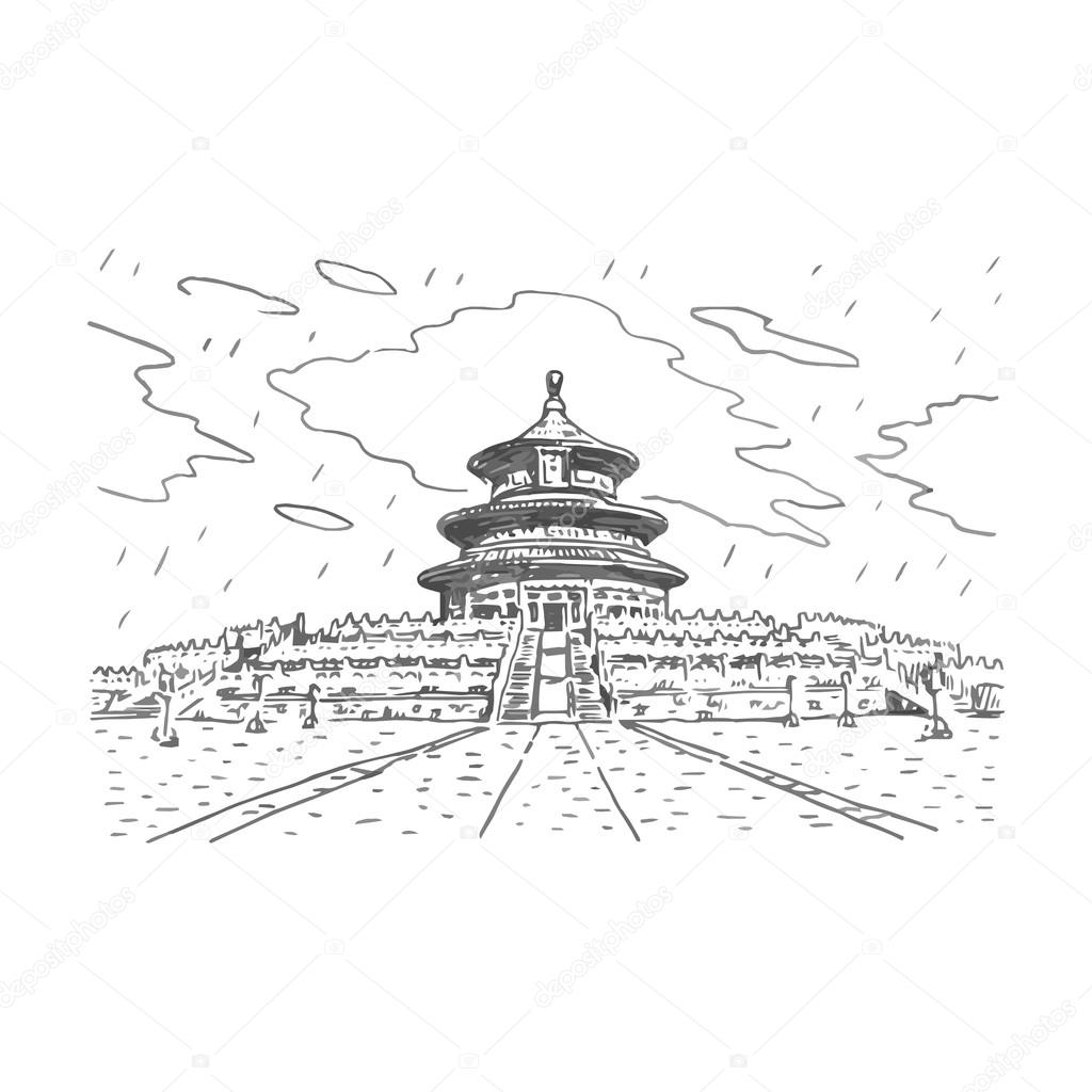 1024x1024 The Hall Of Prayer For Good Harvests In Beijing, China. Stock