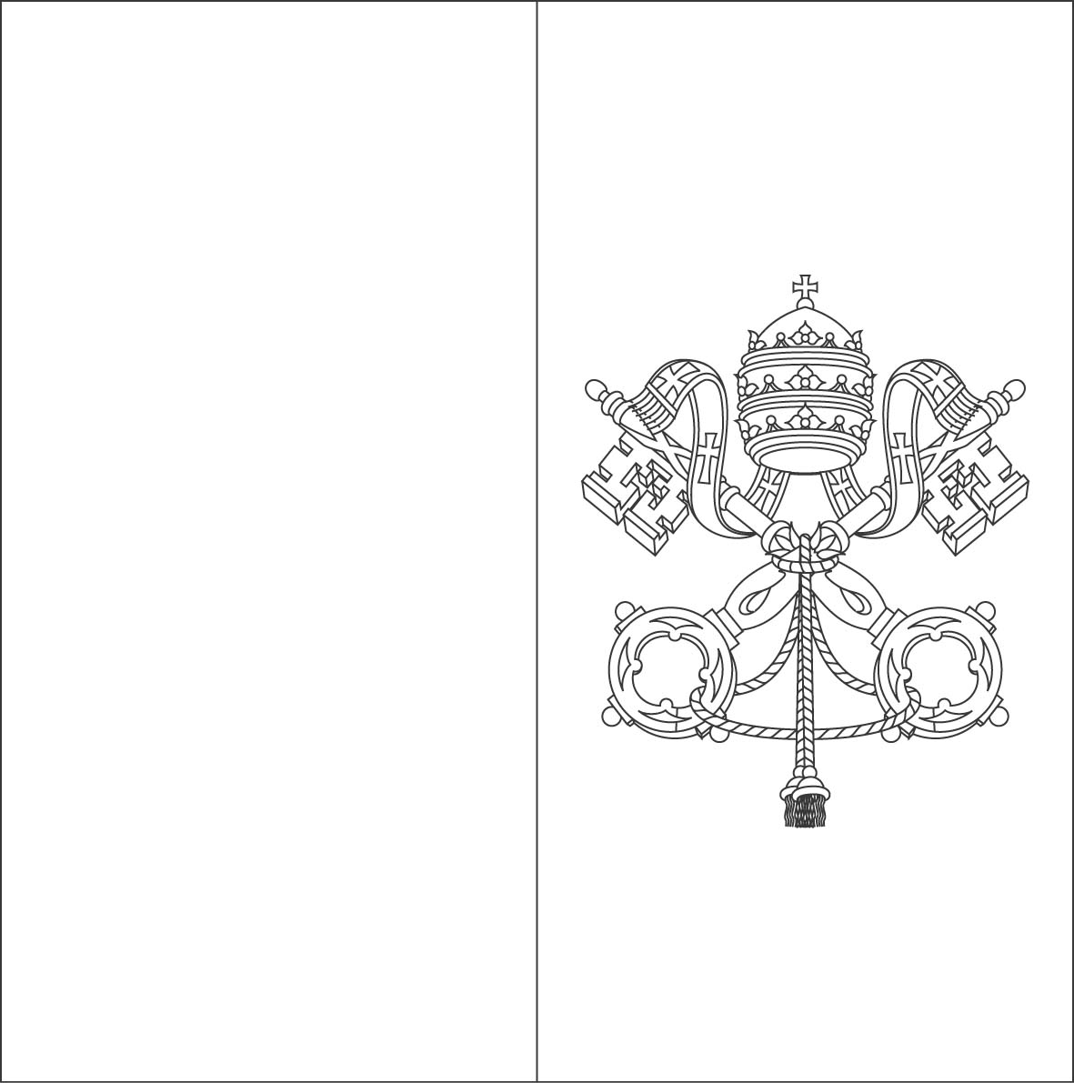1181x1191 Vatican Flag Coloring Sheets