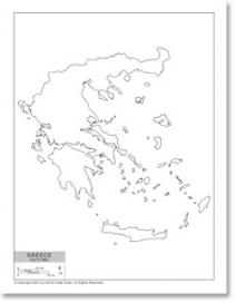 212x272 Line Drawing Map Of Greece. Map Of Egypt Drawing, Map Of Cuba