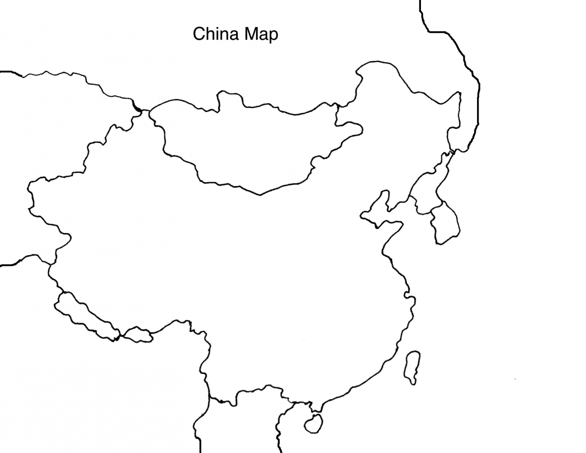 China map drawing at getdrawings free for personal use china 1200x927 map of china black and white color china map cities tourist gumiabroncs Images