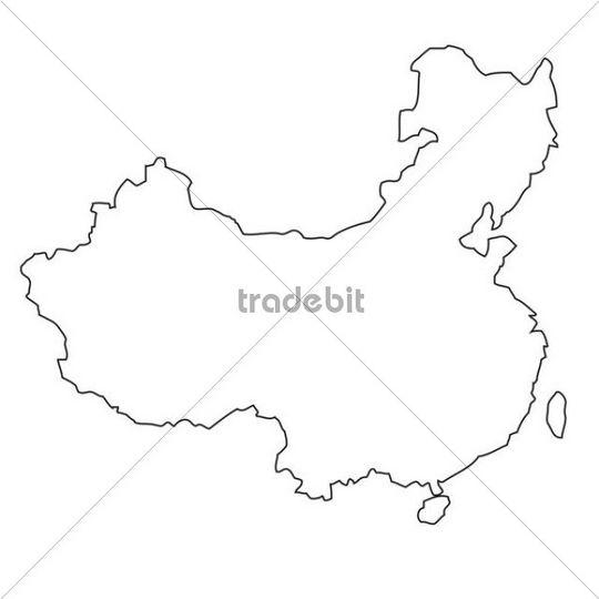 China Map Drawing at GetDrawings.com | Free for personal use China ...