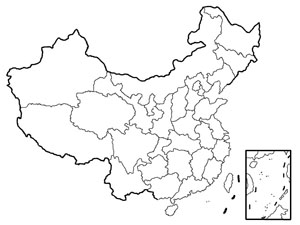 300x225 China Blank Map, Blank Map Of China, Outline Map Of China China