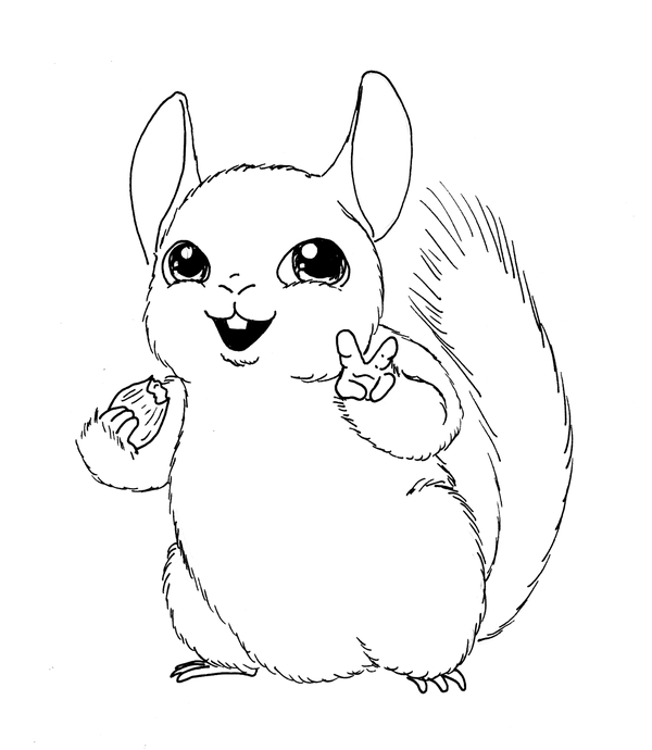 600x690 Happy Chinchilla By DieMax On DeviantArt