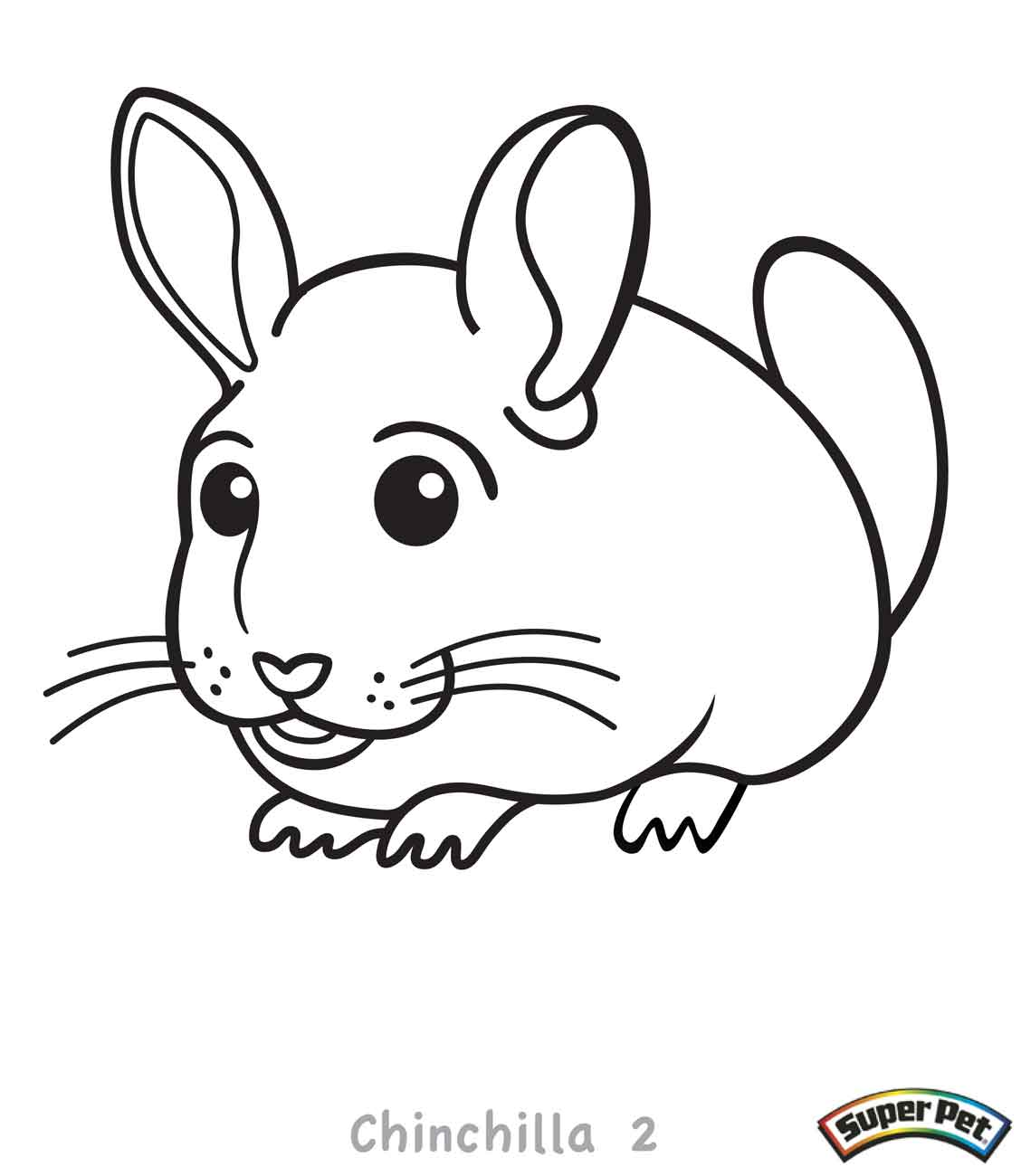 Chinchilla drawing at free for personal for Chinchilla coloring pages to print