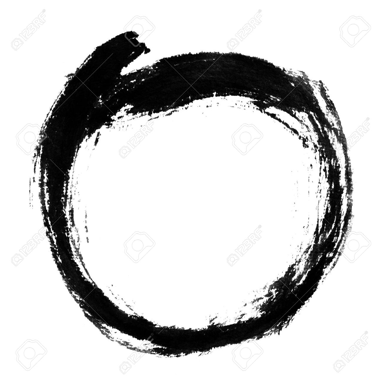 1300x1300 Chinese Calligraphy Circle Shape. Stock Photo, Picture And Royalty