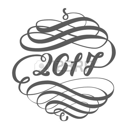 450x450 Greeting Card Design Template With Chinese Calligraphy For 2017