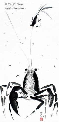 236x490 Original Sumi E For Sale Tai Oi Yee's Chinese Ink Painting