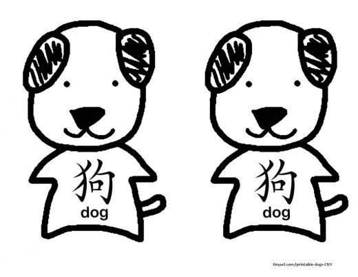 520x402 Printable Dog Templates Kid Crafts For Chinese New Year Holidappy