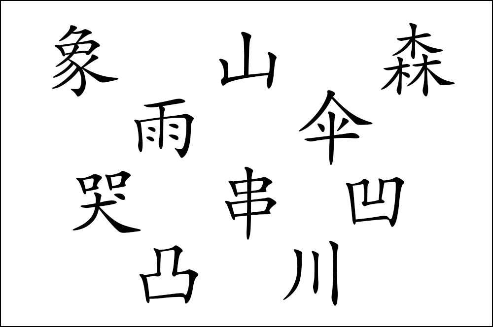 1000x664 Ten Chinese Characters That Look Like Their Meanings
