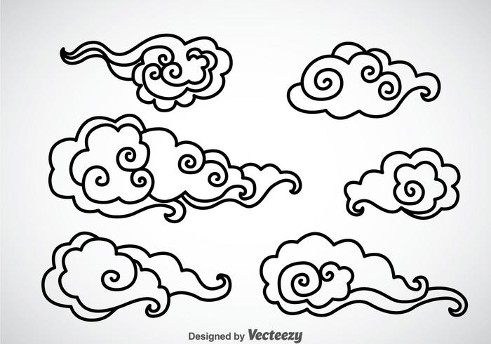 700x490 Chinese Clouds Free Vector Art
