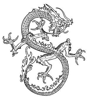 300x348 Chinese Dragon Vector 3 Art Vector Free Vector Download