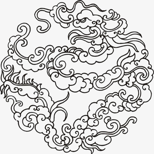 650x650 Creative Cartoon Clouds Picture Material,chinese Style Hand