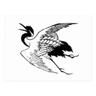 324x324 White Crane Bird Postcards Zazzle