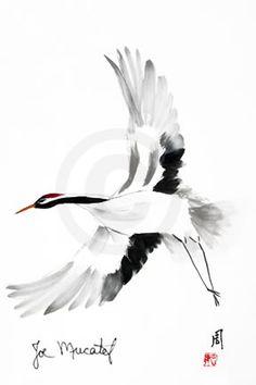 236x354 Japanese Cranes Birds Drawing