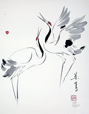 301x385 94 Best Cranes Images On Drawing, My Passion And Painting