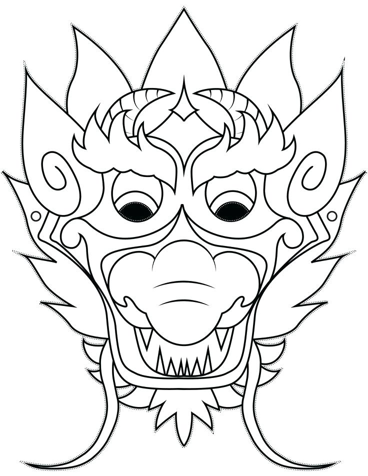 736x952 Dragon Head Coloring Page New Year Dragon Drawing Dragon Coloring