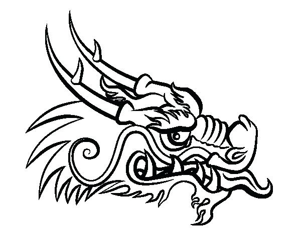 600x470 Dragon Head Coloring Page New Year Dragon Drawing Dragon Coloring