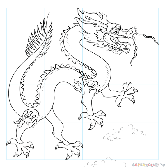 567x575 How To Draw A Chinese Dragon Step By Drawing Tutorials
