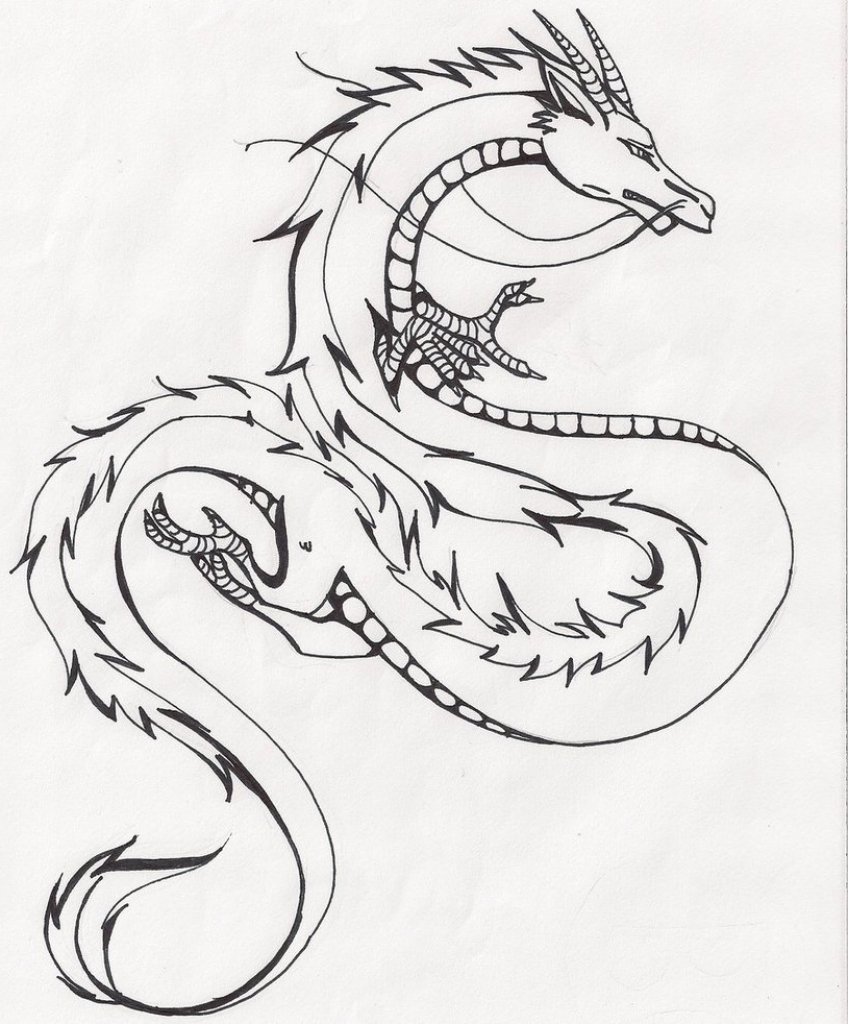 848x1024 Chinese Dragon Drawings Easy Chinese Dragon Drawing Chinese Dragon