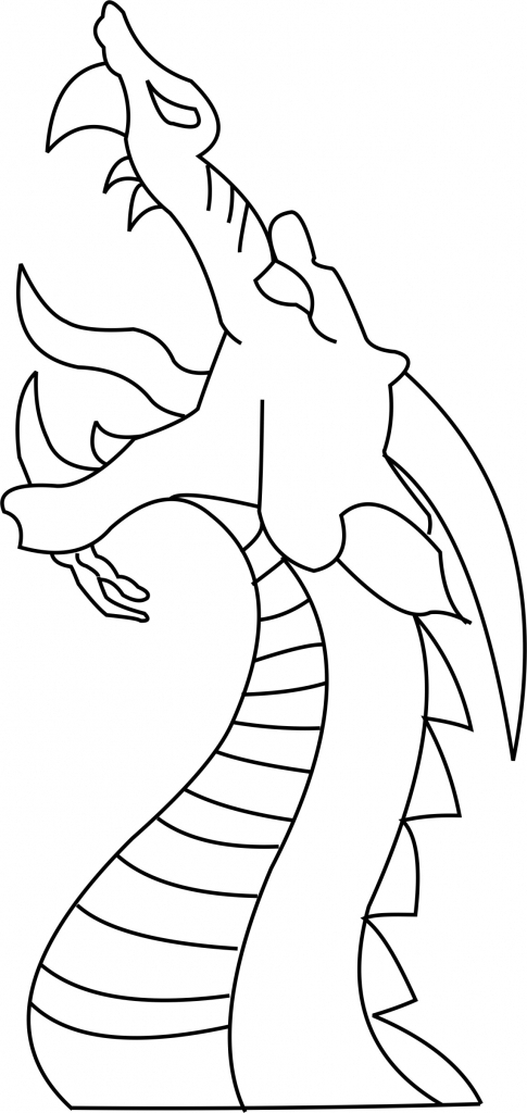 485x1024 Coloring Pages Cute Easy To Draw Dragons Simple Dragon Drawing