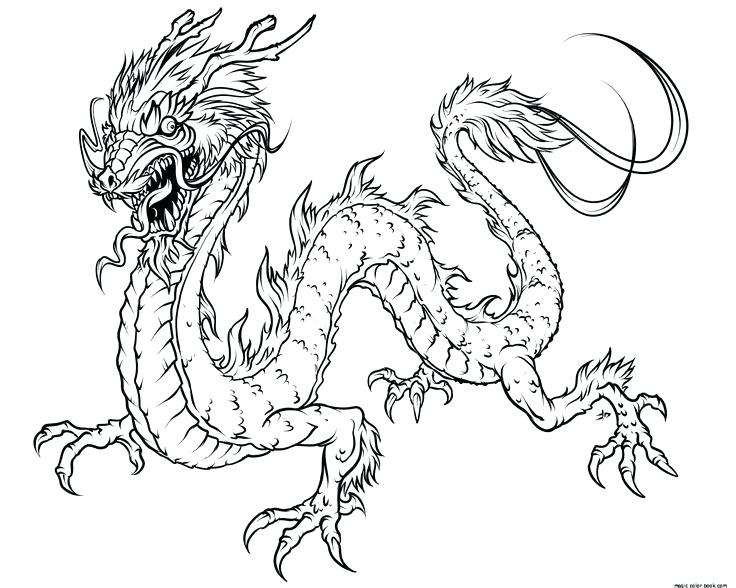 736x588 Epic Chinese Dragon Printable Coloring Pages Free Download Best