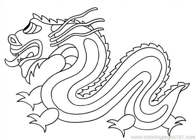650x465 Ideal Chinese Dragon Coloring Pages Fee Free Printable For Kids