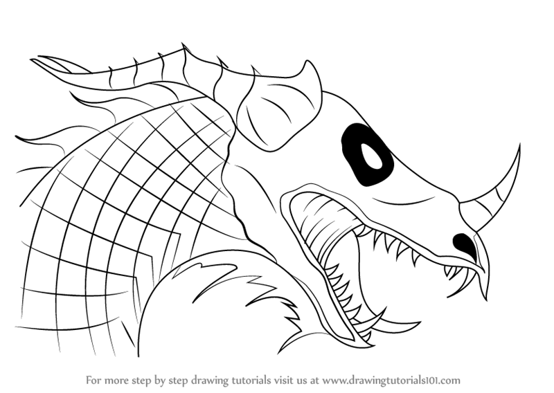 800x568 Learn How To Draw A Dragon Head (Dragons) Step By Step Drawing