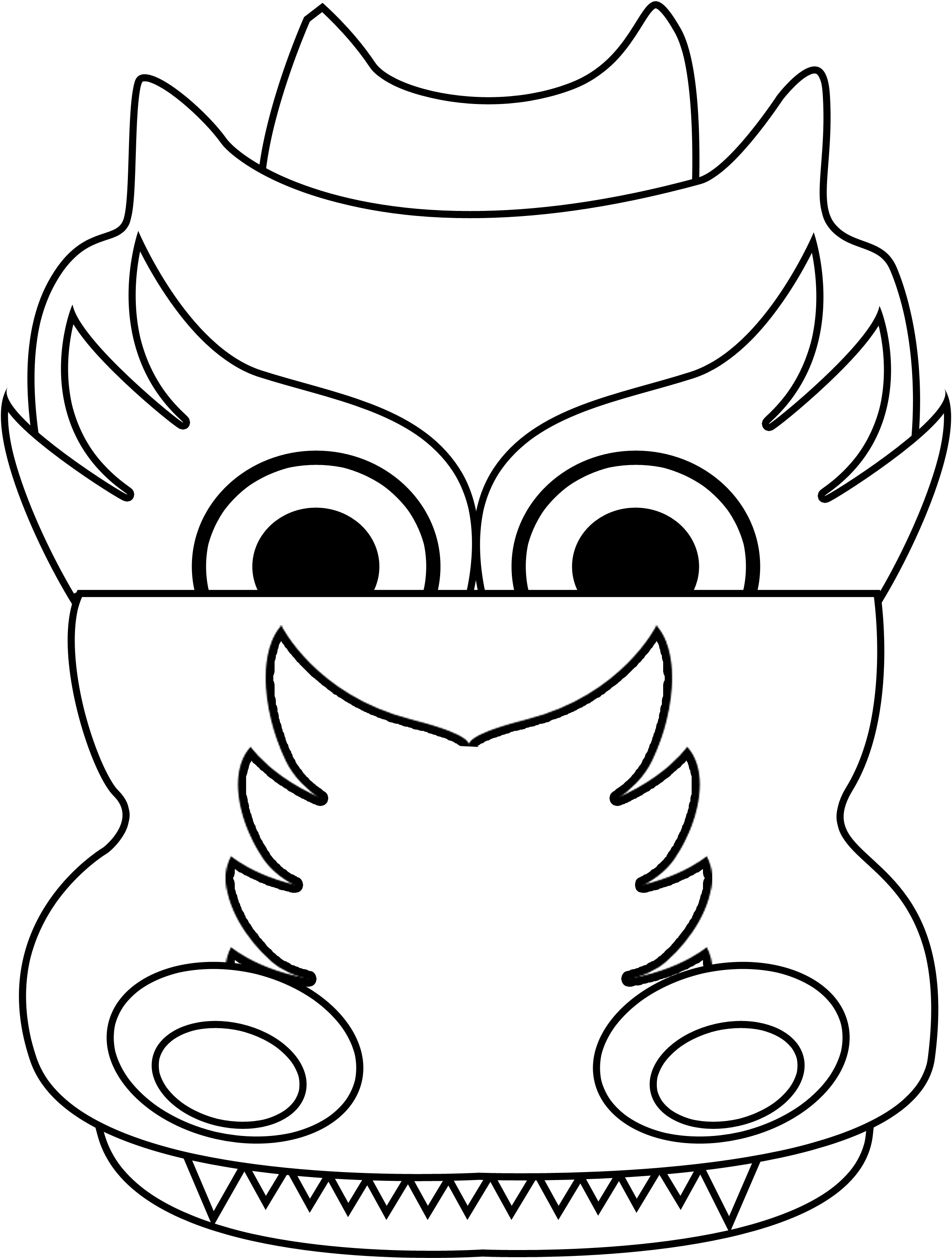 2271x3000 Comfortable Dragon Head Coloring Page Pictures Inspiration
