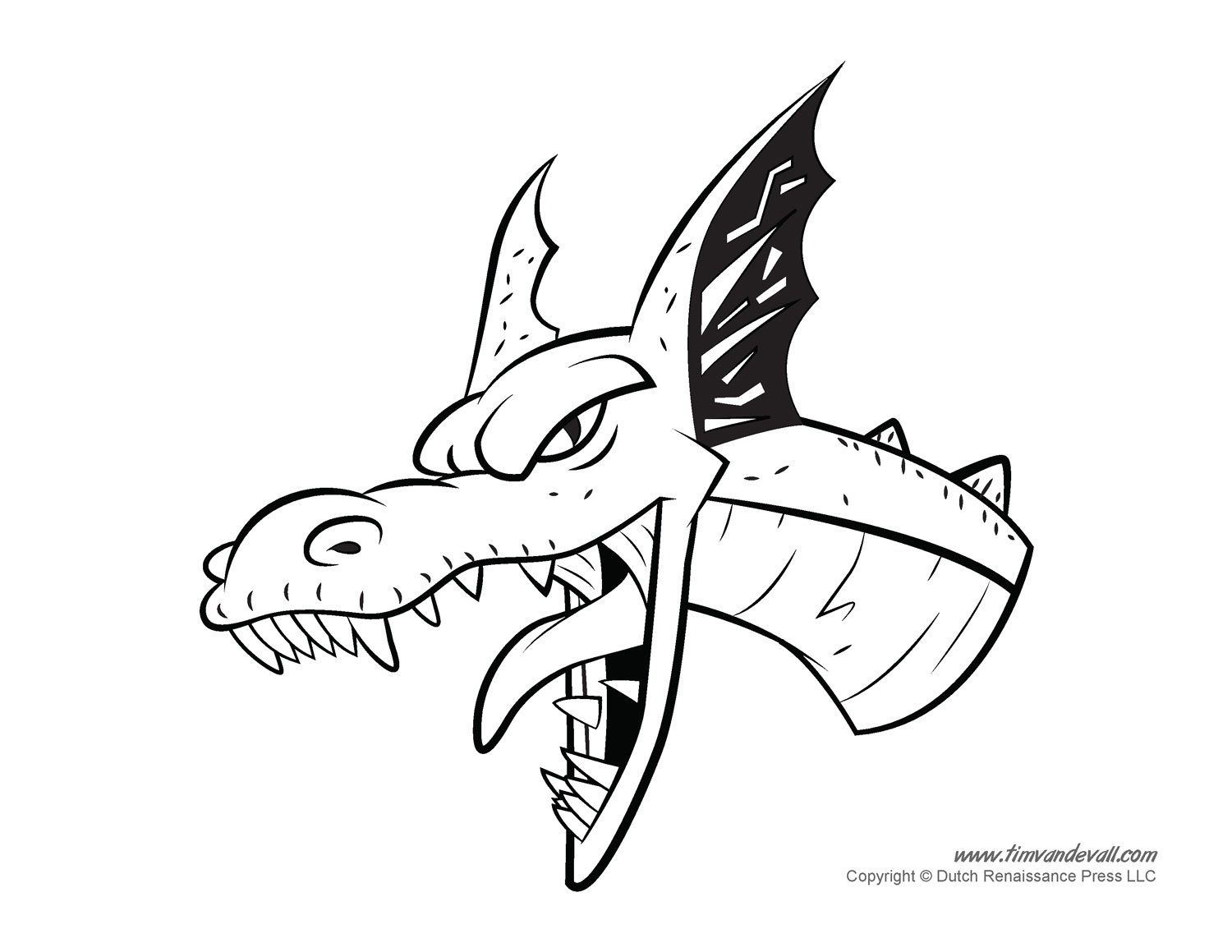 1500x1159 Dragon Coloring Pages