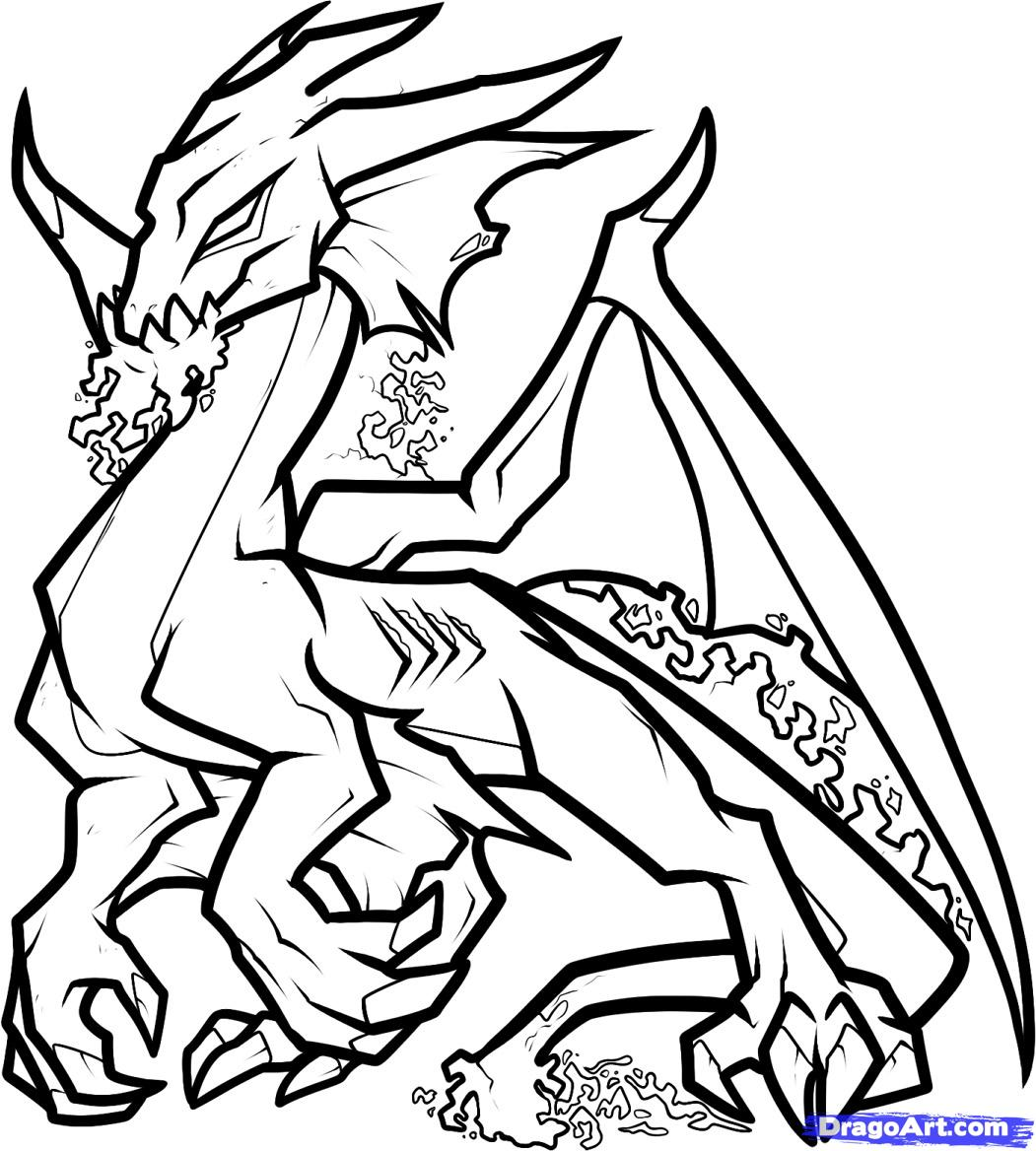 1051x1168 Dragon Head Coloring Pages