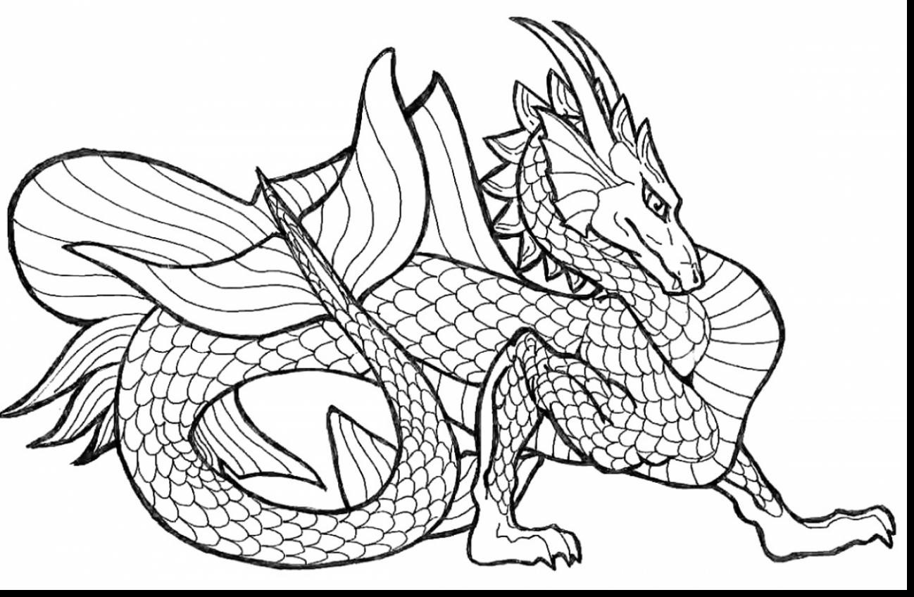 1298x848 Free Printable Chinese Dragon Coloring Pages For Kids Page