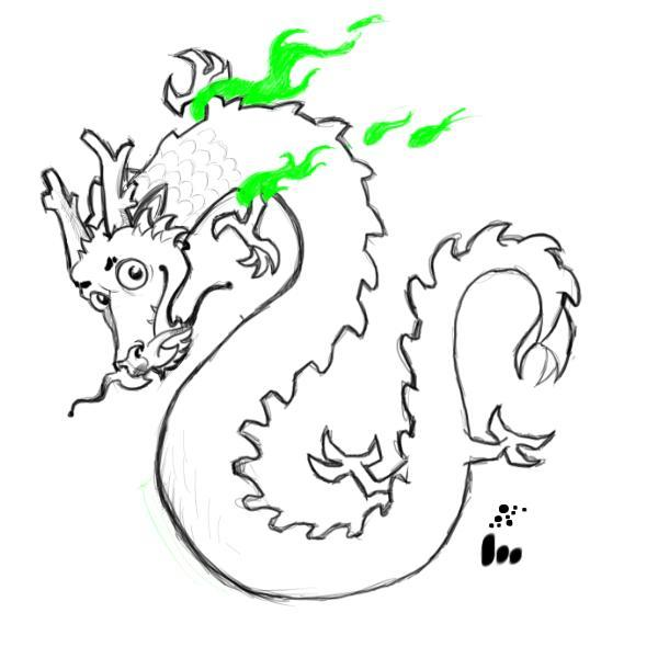 600x600 How Draw A Cartoon Chinese Dragon Step By How