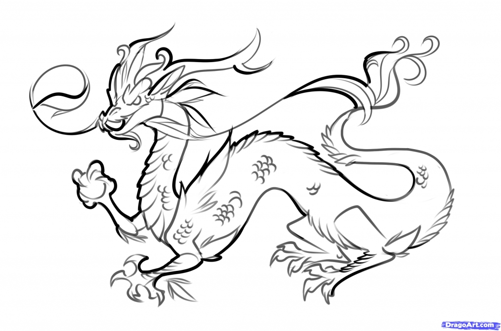 1024x677 Chinese Dragon Drawing How To Draw A Chinese Dragon Easy Step Step