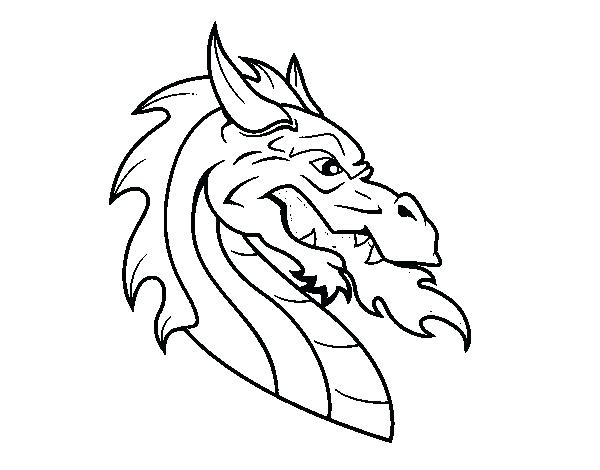 600x470 Dragon Head Coloring Page Dragon Head Coloring Page Dragon Sketch