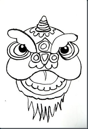 Chinese Dragon Face Drawing at GetDrawings.com | Free for personal ...