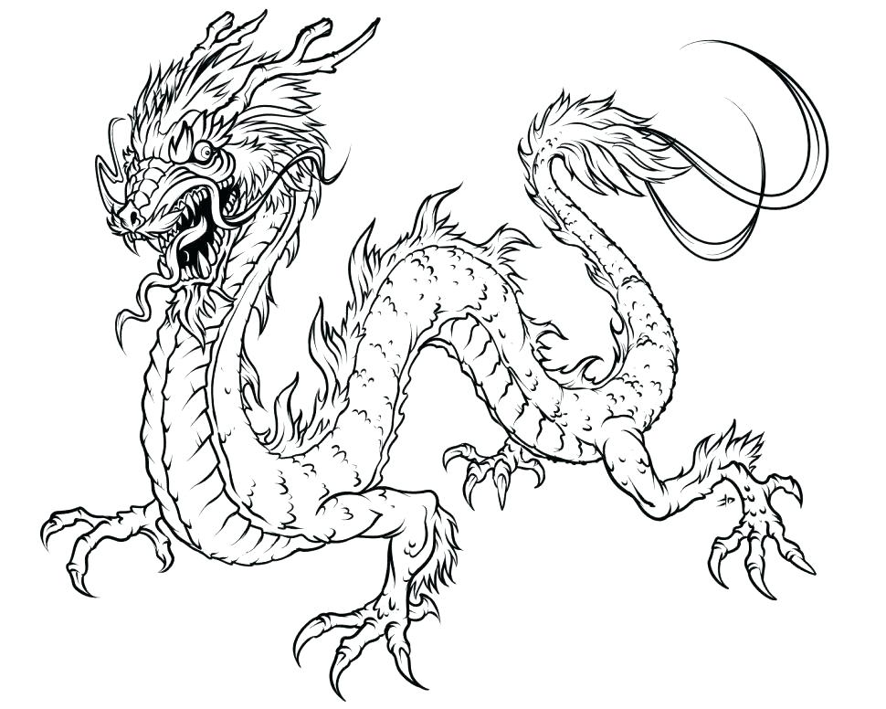 970x776 Dragon Head Coloring Page Dragon Head Coloring Page Chinese Dragon