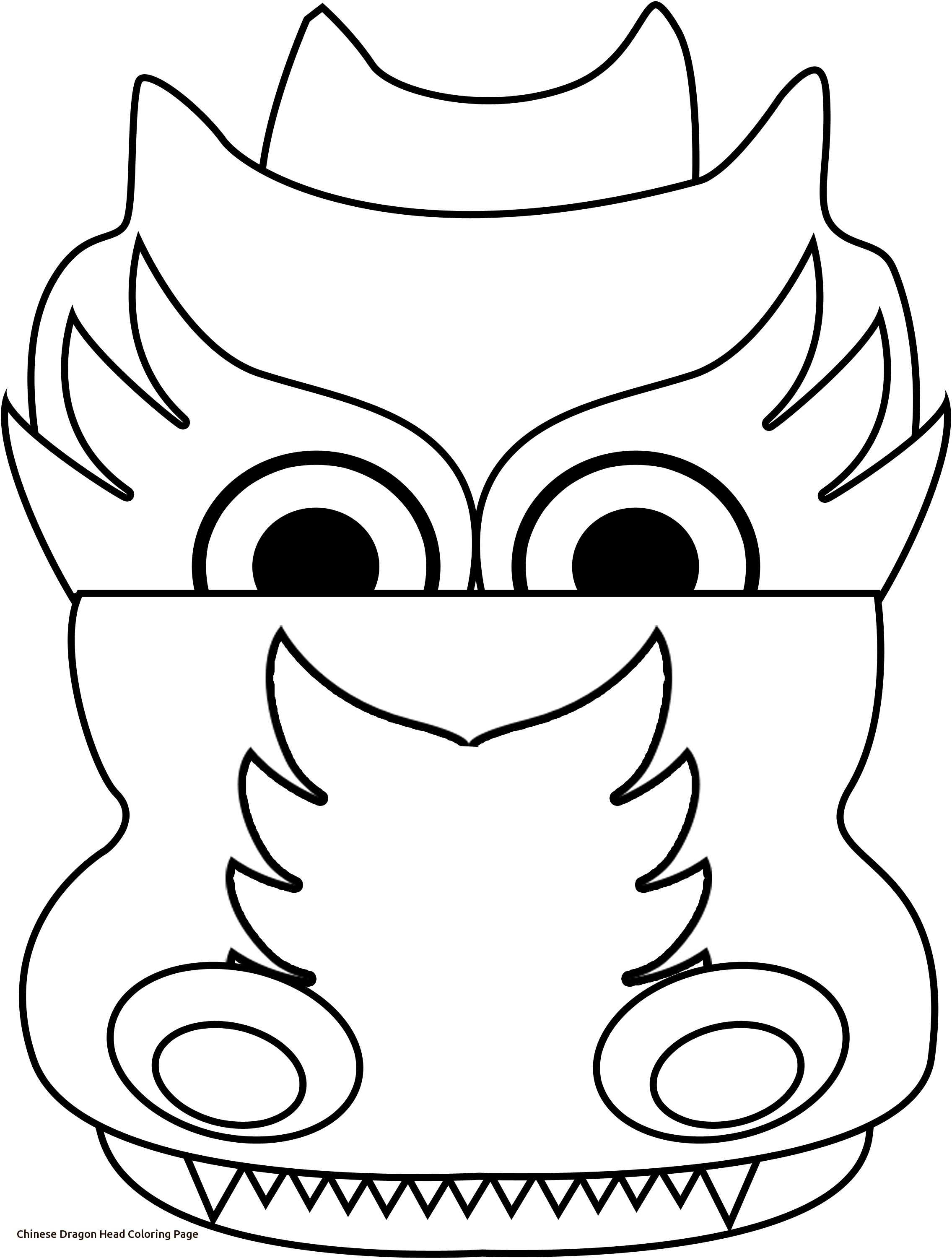 chinese dragon head drawing at getdrawings com free for personal chinese coloring page