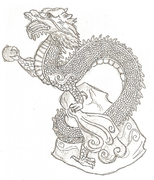 515x601 Chinese dragon by FalineDrake on DeviantArt