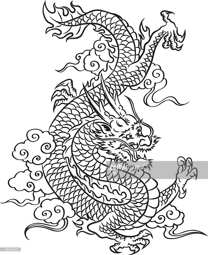 839x1024 15 Black and White Chinese Dragon Pictures Selection Black And