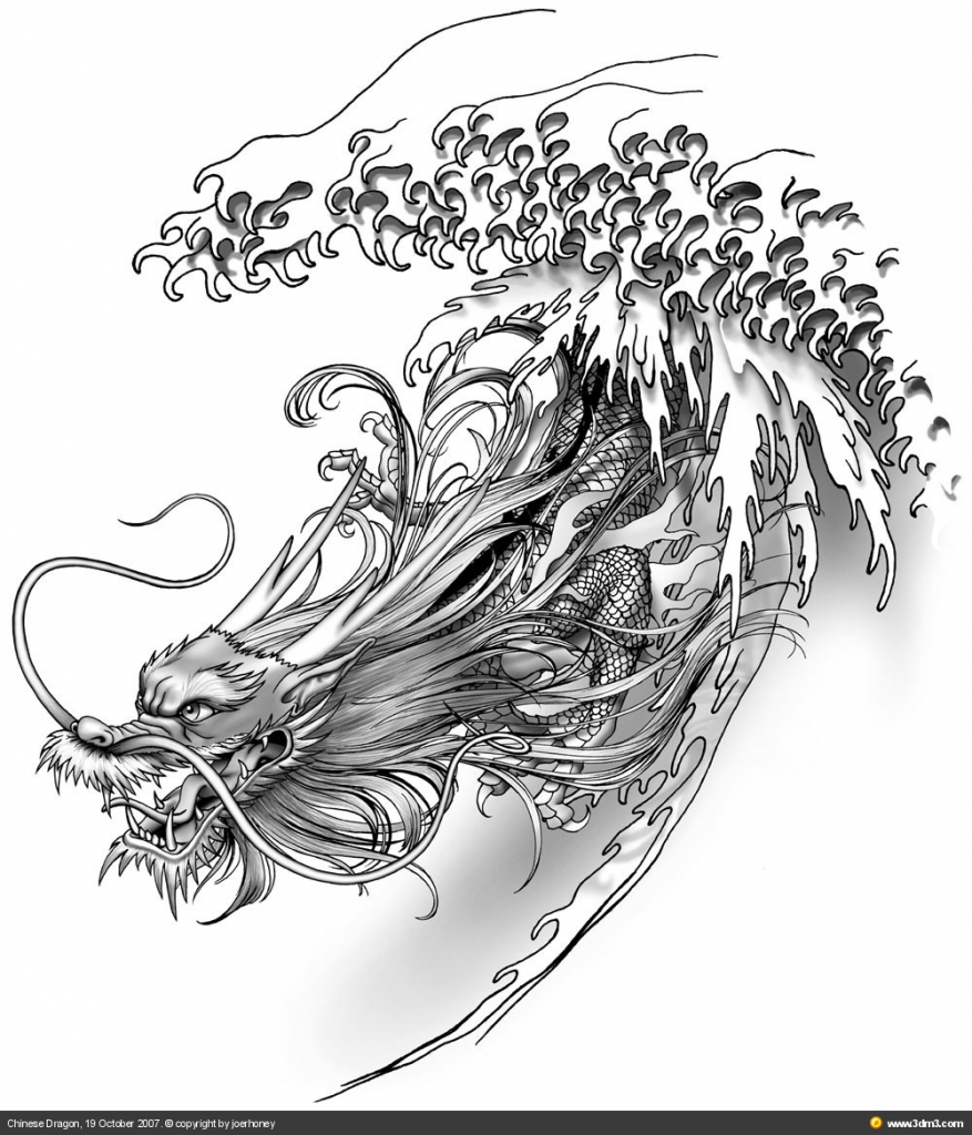 877x1024 Drawing Chinese Dragon How To Draw A Chinese Dragon Easy Step Step