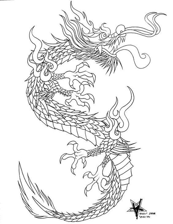 564x729 Drawn Chinese Dragon Ancient