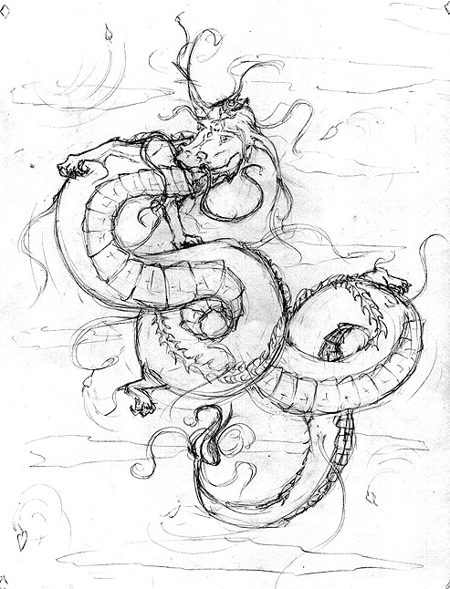 493x646 Oriental Dragon Sketch by ArtByAri on DeviantArt