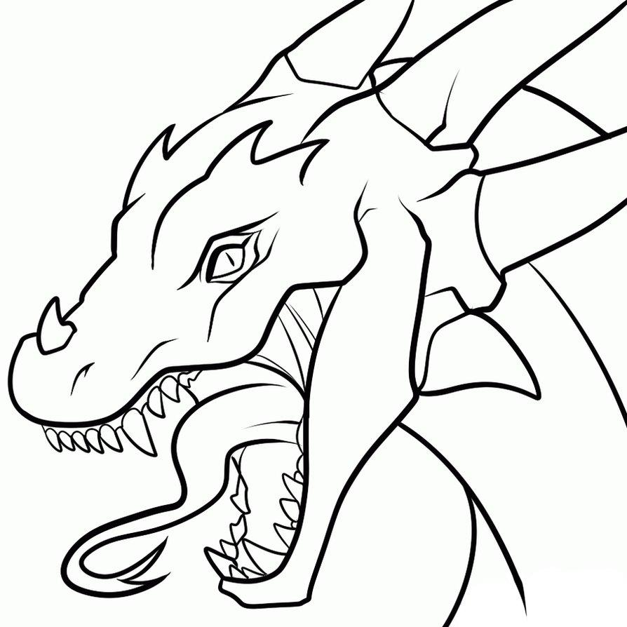 894x894 dragon clipart pencil