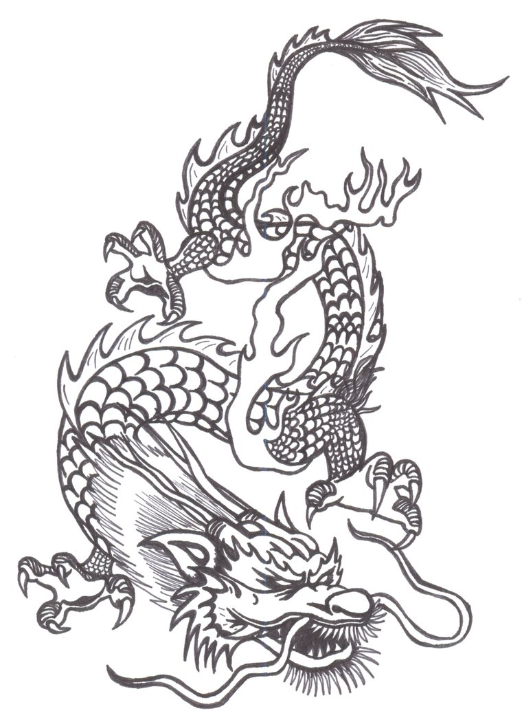 760x1050 Chinese Dragons Drawings