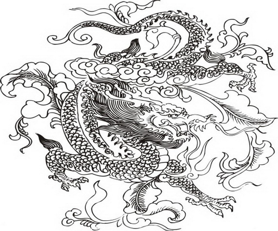 Chinese Dragons Drawing