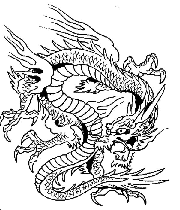 600x699 Chinese Dragon Coloring Pages