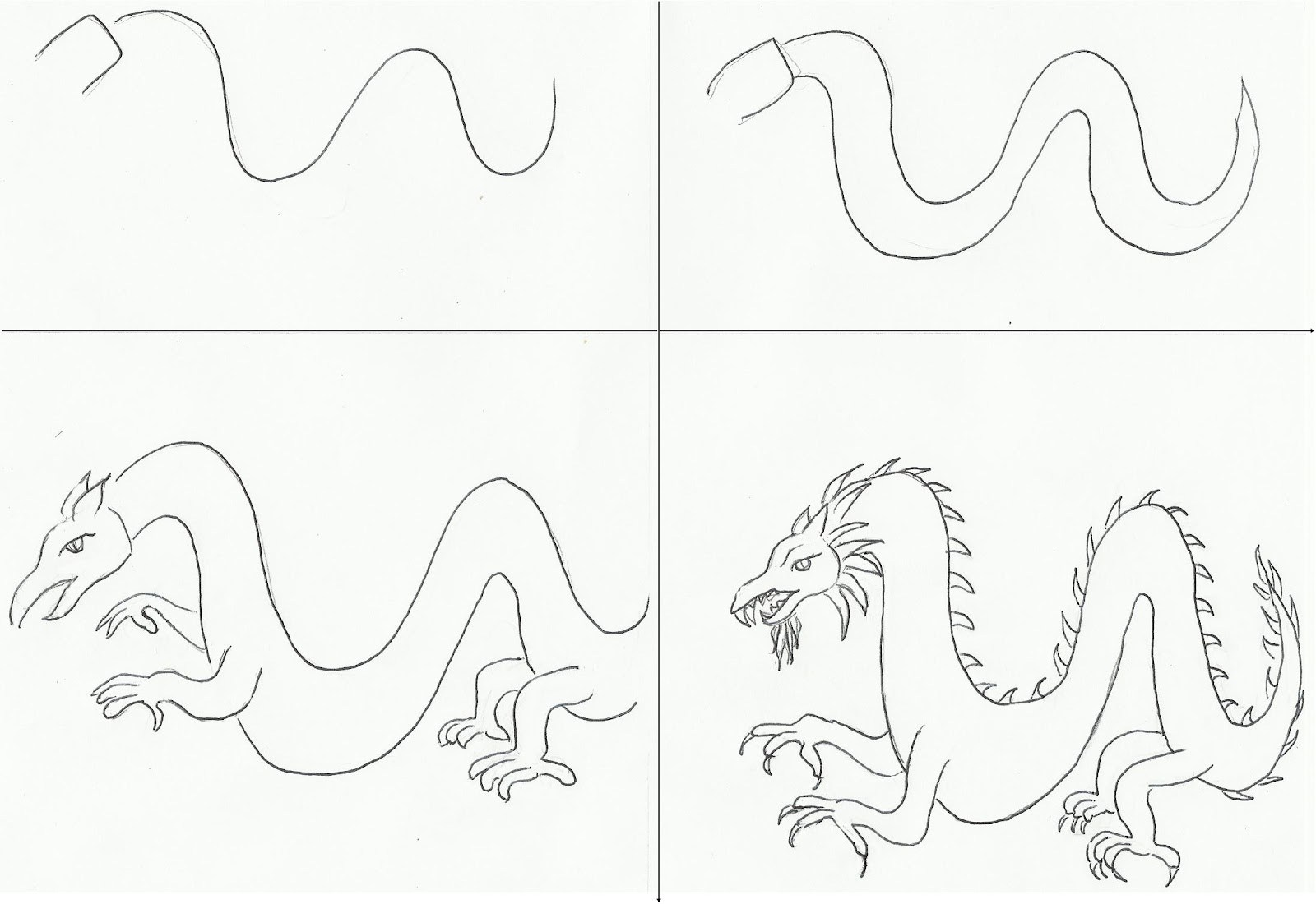 1600x1100 How Draw A Chinese Dragon Step By How