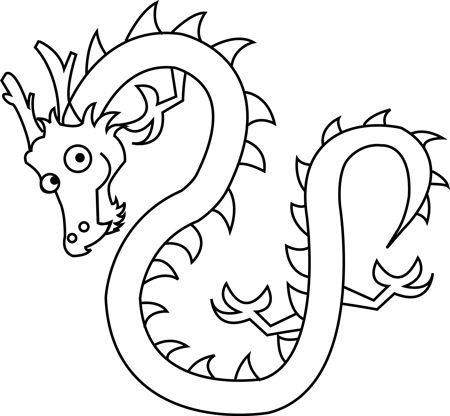 450x416 How To Draw Chinese Dragons With Easy Step By Step Drawing Lesson
