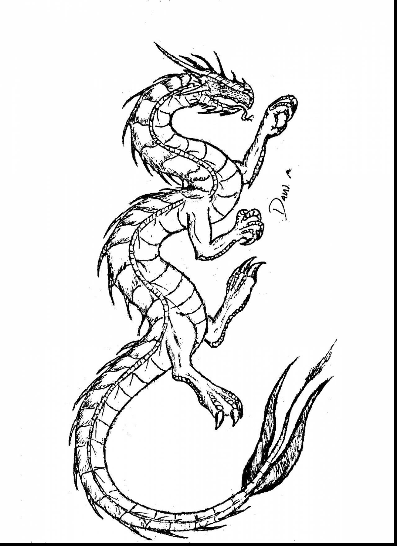 1280x1760 Spectacular Easy To Draw Chinese Dragon Drawings With Tattoo