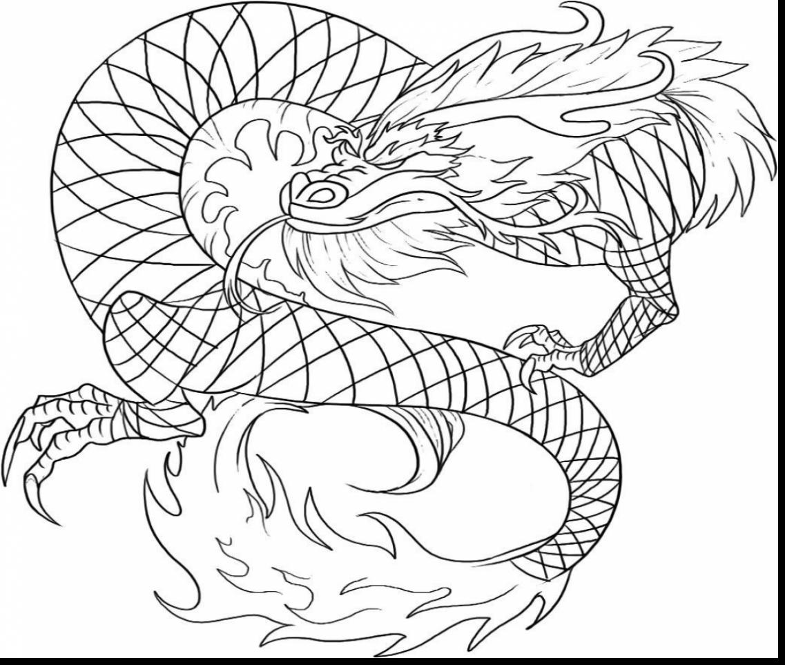 1137x963 Surprising Easy To Draw Chinese Dragon Drawings With Coloring